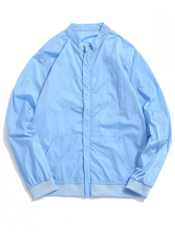Chaqueta antideslizante exterior de color sólido - Azul Suave M