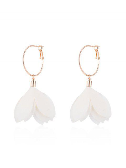 buy Floral Decoration Dangle Earrings - WHITE  Mobile