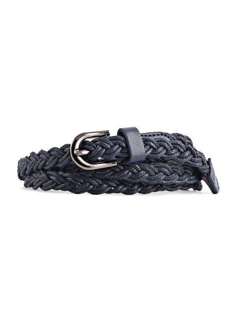 hot Braid Pin Buckle Dress Belt - CADETBLUE  Mobile