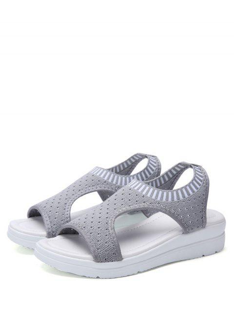 best Casual Breathable Platform Sandals - GRAY CLOUD EU 38 Mobile