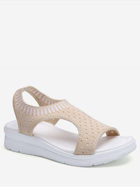 hot Casual Breathable Platform Sandals - BEIGE EU 43 Mobile