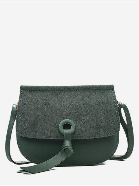 buy Saddle Shape Matte Crossbody Shoulder Bag - SEA GREEN  Mobile