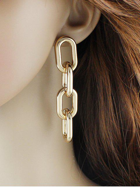 new Punk Personality Thick Chain Earrings - GOLD  Mobile