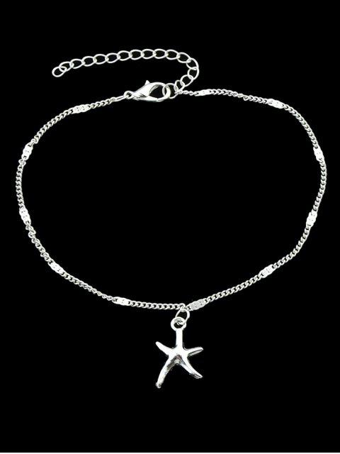 chic Brief Starfish Small Pendant Anklet - SILVER  Mobile