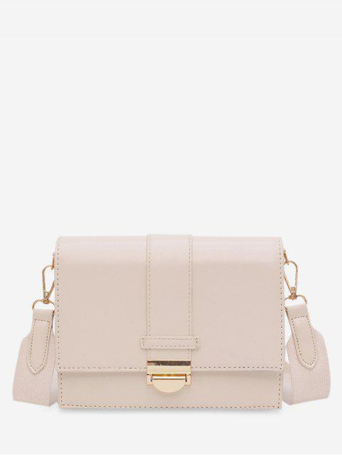 chic Square Simple Hasp Shoulder Bag - WHITE  Mobile