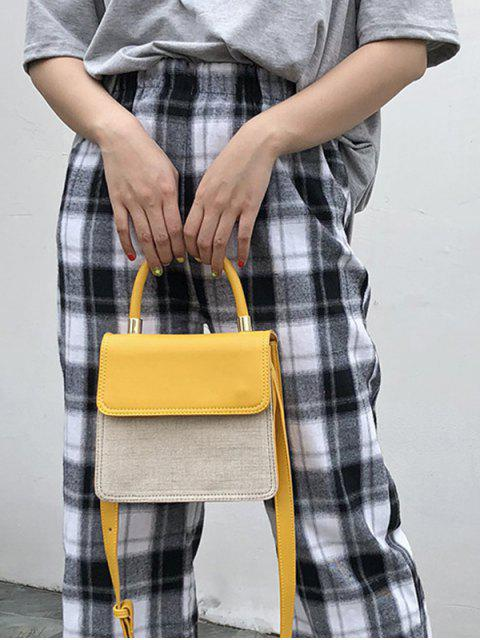 chic Simple Style General Shoulder Bag - YELLOW  Mobile