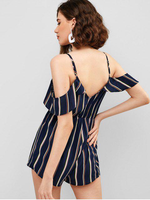outfits ZAFUL Striped Wide Leg Cami Romper - MULTI S Mobile