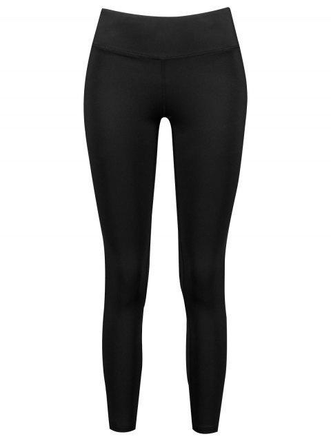 Leotardos de yoga de cintura ancha - Negro L Mobile