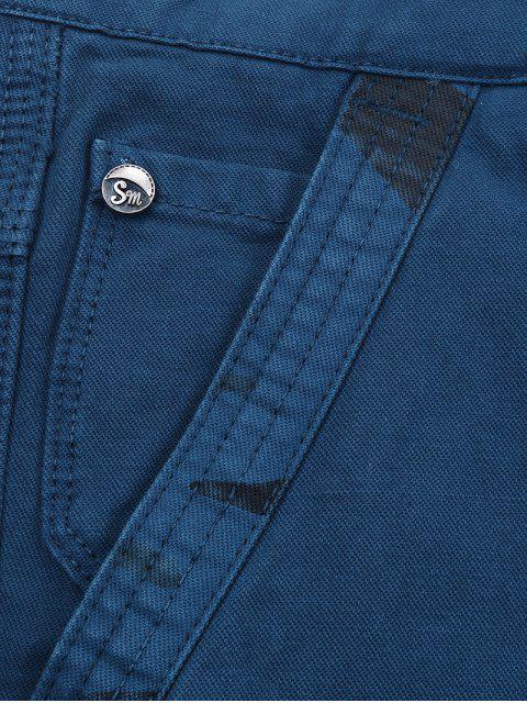 Pantalones cortos de carga con estampado de camuflaje y cremallera. - Azul Oscuro de Denim 34 Mobile