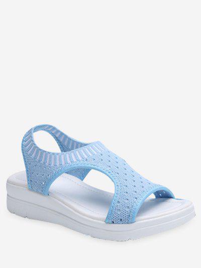 e989b5358 Sandalias De Plataforma Transpirable Informal - Azul Claro Eu 40