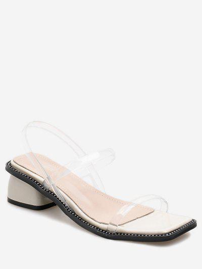 e3acbedd9 Simple Square Toe PVC Sandals - White Eu 37 ...