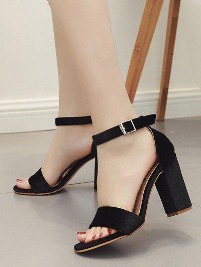 5fbea9829cbb ... Buckle High Heel Sandals - Black Eu 39