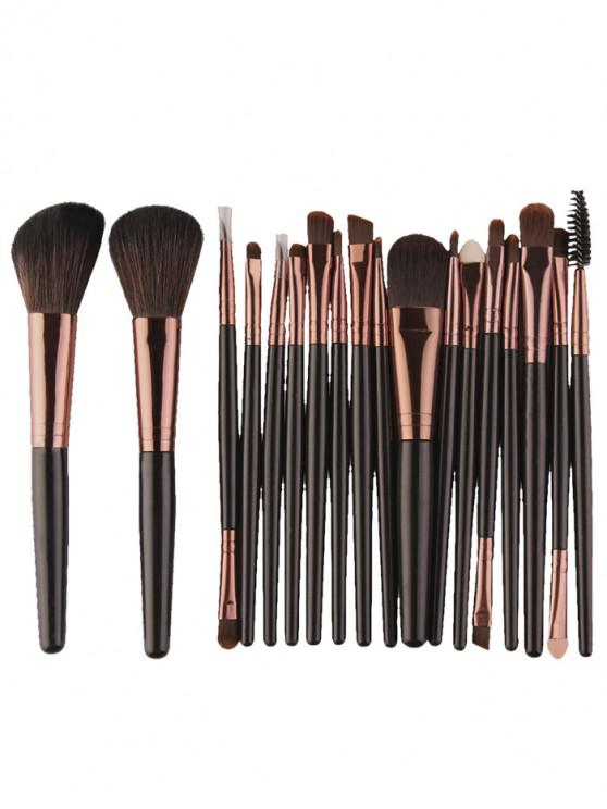 ladies 18Pcs Multifunctional Facial Makeup Brushes Set - BLACK BROWN