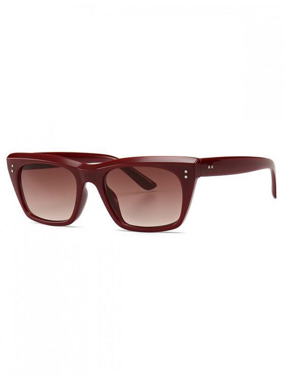 Gafas de sol retro estilo simple unisex - Vino Tinto