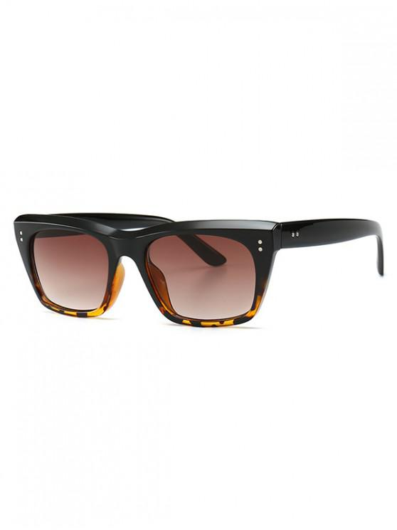 outfit Unisex Simple Style Retro Sunglasses - BROWN