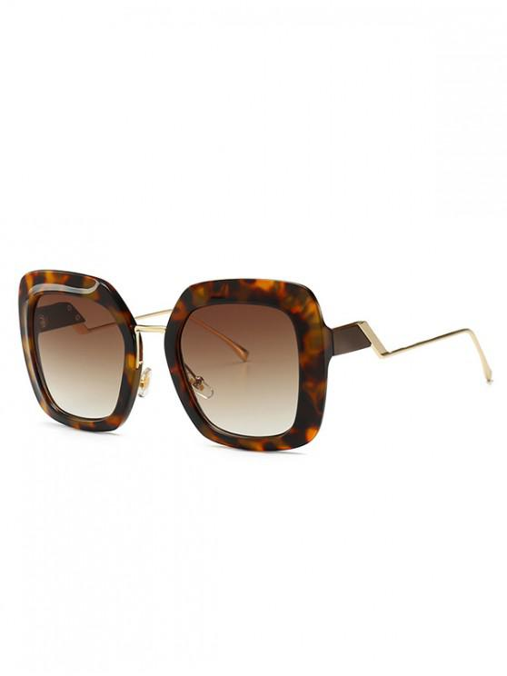 shop European Style Square Street Style Sunglasses - LEOPARD