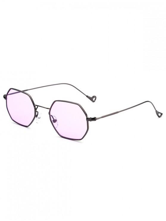 unique Outdoor Irregular Metal Sunglasses - PURPLE