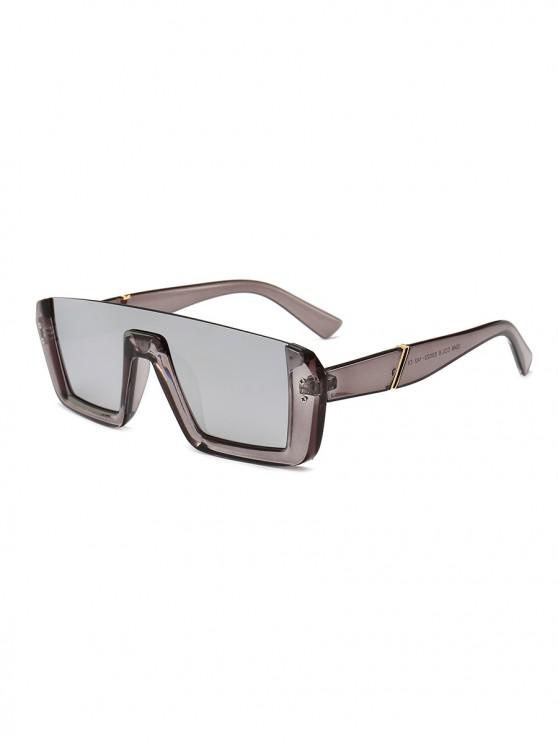 womens Retro Semi-rimless Stylish Sunglasses - SMOKEY GRAY