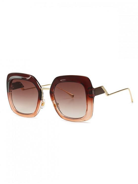 women European Style Square Street Style Sunglasses - BROWN