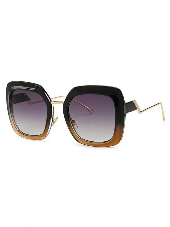 women's European Style Square Street Style Sunglasses - BLACK