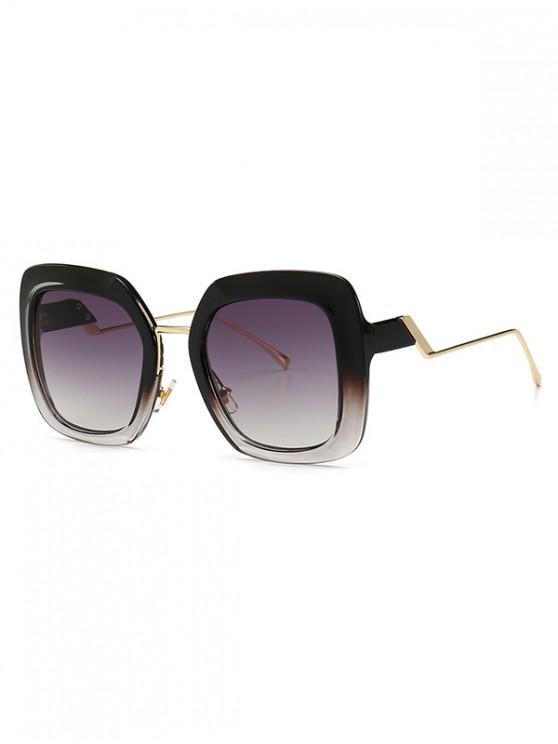 Gafas de sol cuadradas estilo europeo de estilo callejero - Gris Humo