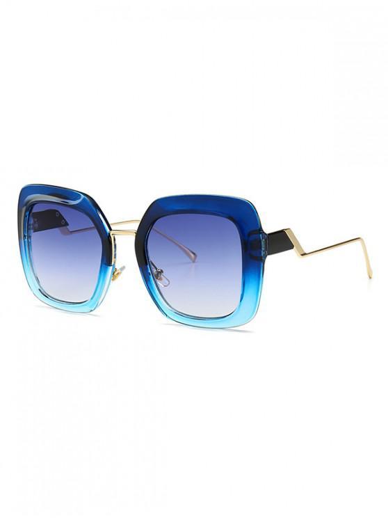 hot European Style Square Street Style Sunglasses - BLUE