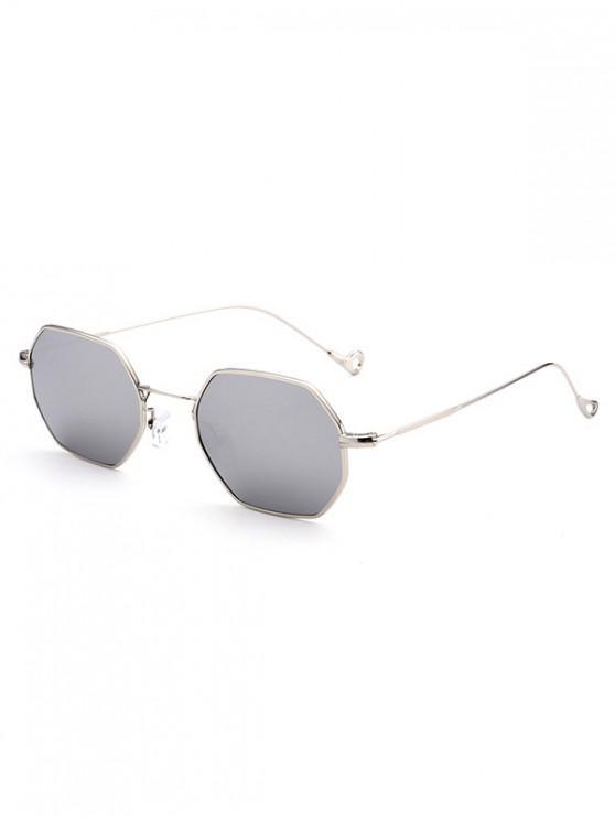 trendy Outdoor Irregular Metal Sunglasses - SILVER