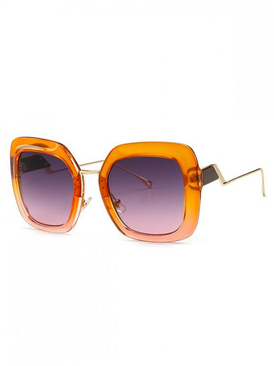 chic European Style Square Street Style Sunglasses - ORANGE