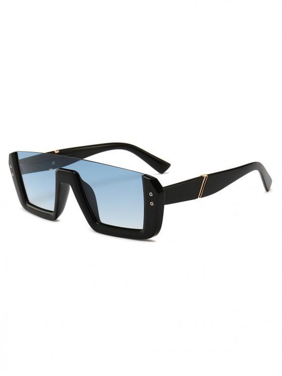 ladies Retro Semi-rimless Stylish Sunglasses - SKY BLUE