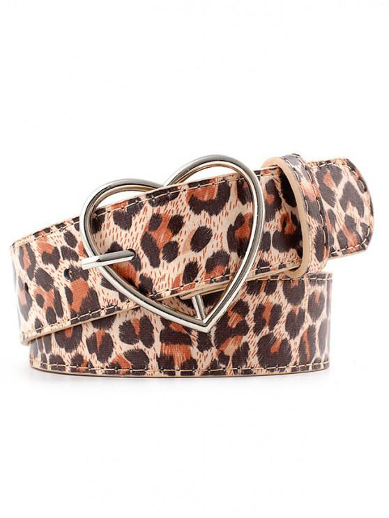ladies Leopard Print Adjustable Waist Belt - MULTI-A