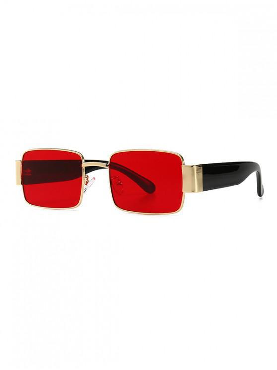 Gafas de sol estilo sin montura punk - Rojo