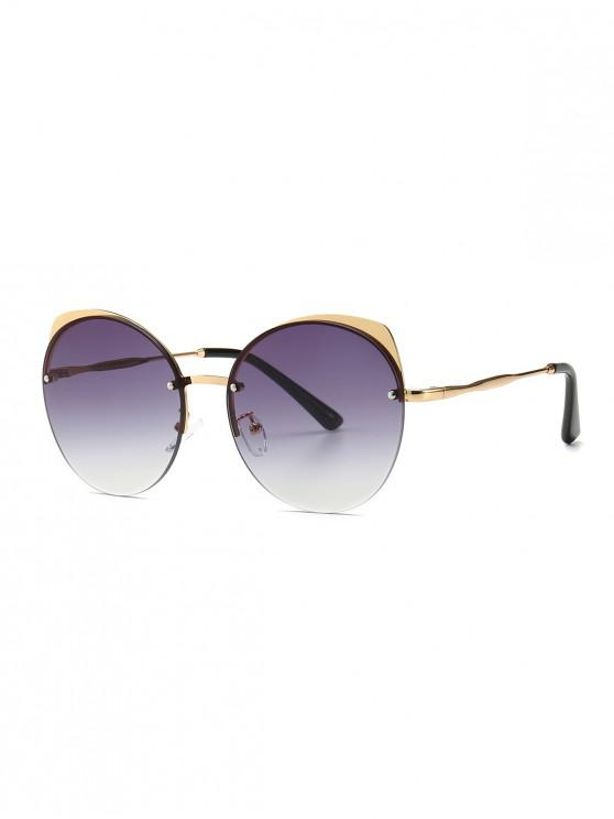 fancy Fashionable Outdoor Decoration Sunglasses - BLACK
