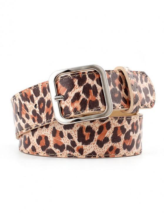 women's Leopard Print Adjustable Waist Belt - MULTI-B