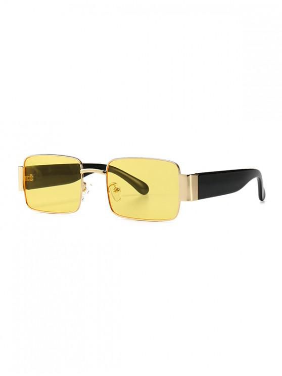 shop Rimless Punk Style Sunglasses - YELLOW