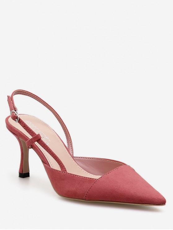trendy Pointed Toe High Heel Slingback Sandals - PINK EU 38