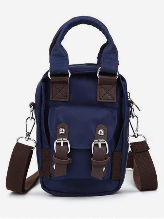 outfits Double Buckle Design Crossbody Bag - DARK SLATE BLUE