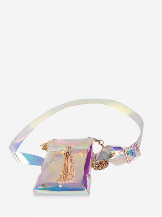 Estampado floral borla diseño fanny pack - Multicolor