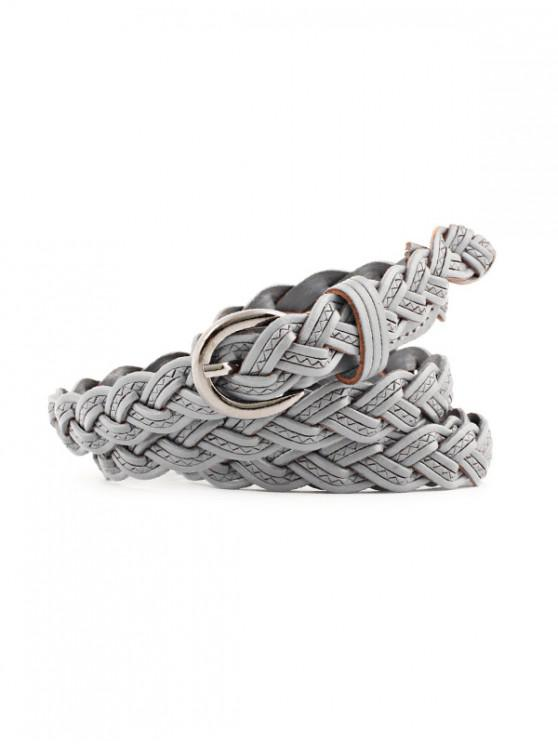 hot Braid Weaving Dress Decorative Belt - GRAY