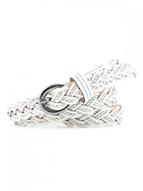 hot Braid Weaving Dress Decorative Belt - WHITE