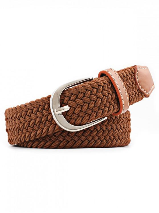 outfits Braid Elastic Pin Buckle Belt - CAMEL BROWN