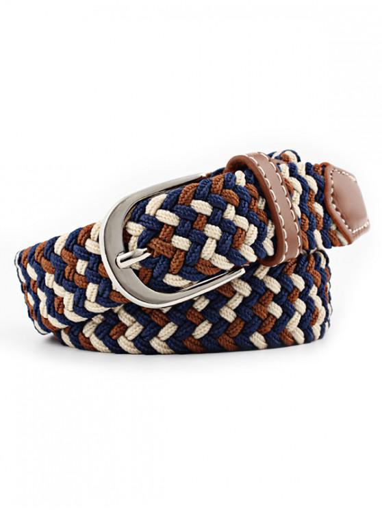 trendy Braid Elastic Pin Buckle Belt - MULTI-A