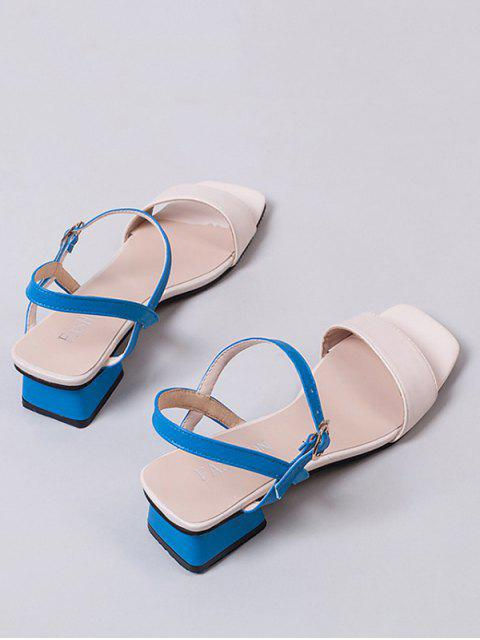 outfit Open Toe Two Tone Sandals - WHITE EU 34 Mobile