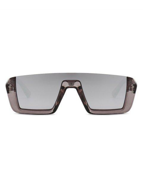 womens Retro Semi-rimless Stylish Sunglasses - SMOKEY GRAY  Mobile