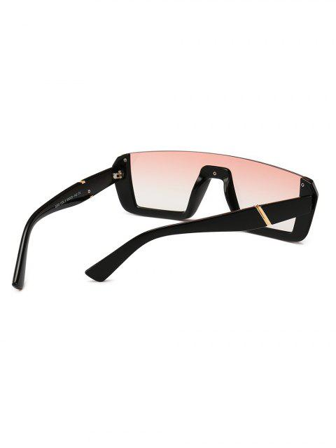 ladies Retro Semi-rimless Stylish Sunglasses - PINK  Mobile