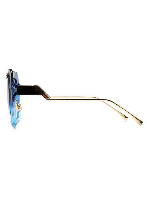 hot European Style Square Street Style Sunglasses - BLUE  Mobile