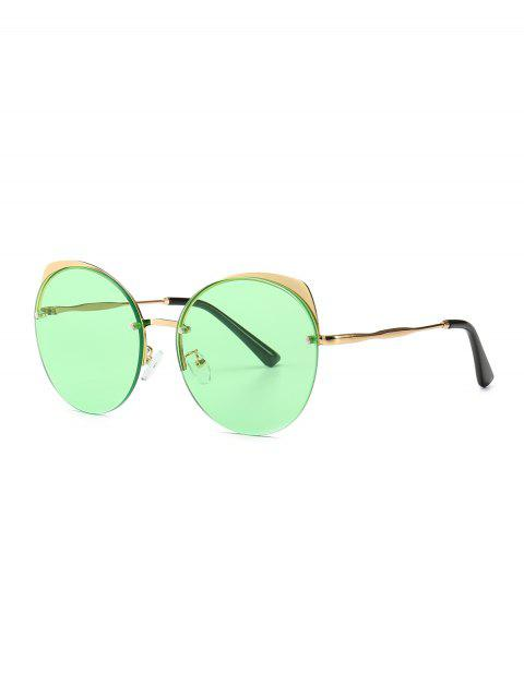 chic Fashionable Outdoor Decoration Sunglasses - GREEN  Mobile