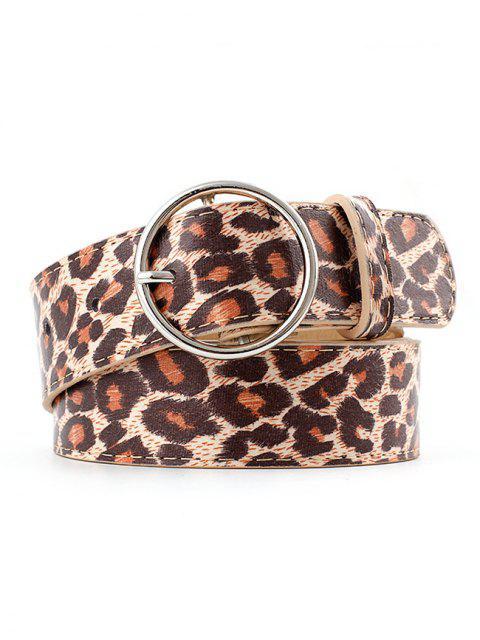 fancy Leopard Print Adjustable Waist Belt - MULTI-C  Mobile