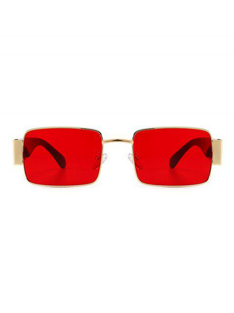 shop Rimless Punk Style Sunglasses - RED  Mobile