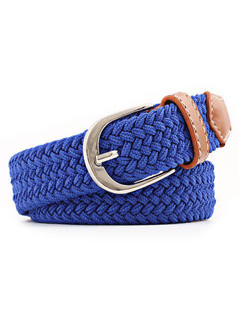 new Braid Elastic Pin Buckle Belt - OCEAN BLUE  Mobile