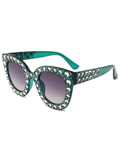 chic Chic Rhinestone Inlaid Sunglasses - SEA TURTLE GREEN  Mobile